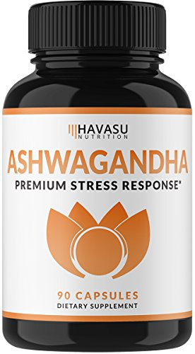 Havasu Nutrition Ashwagandha Capsules Formulated with Artichoke for Increased Absorption - Natural Support for Mood Enhancement and Stress Relaxation for Men & Women, Non-GMO, 1000 mg, 90 Capsules
