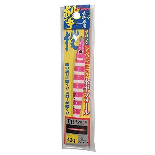 オーナー 撃投ジグレベル 40g ピンクゼブラグロー #20