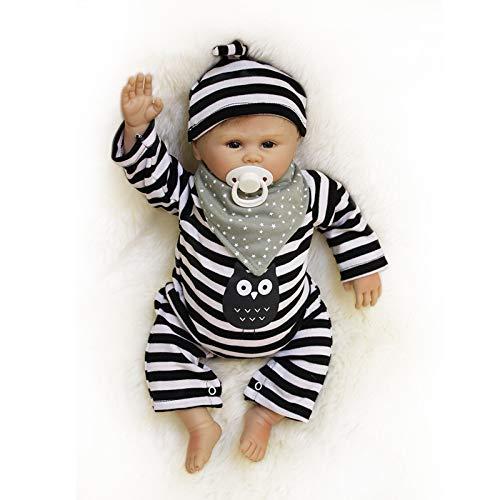 Nicery Bebe Reborn Silicona Muñecas Vinilo de Suave para Niños y Niñas Cumpleaños 18-20 Inch 48-50 cm Juguetes Reborn Baby Doll gx50-52oes