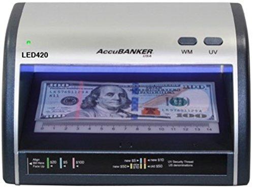 AccuBANKER Cash + Card Counterfeit Detector LED420 Money Checker...