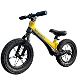 Reeple 12-inch Balance Bike for 2,3,4,5,6 Year Old Kids Training Bike Pneumatic Tire Push Walking Bicycle No-Pedal Adjustable Set Beginner Rider for Boys and Girls