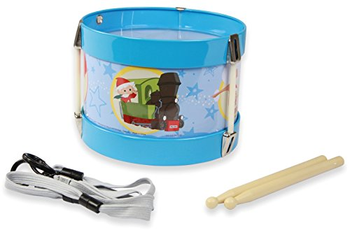 Lena 52626 Blechtrommel Unser Sandmännchen Ø 17 cm, Kindertrommel aus Blech mit 2 Schlägel, Instrument für Kinder ab 3 Jahre, Schlaginstrument, Musikinstrument, Trommel mit Sandmann Motiv, Bunt