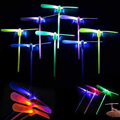 BETOY 25 Piezas Libélula de bambú, Libélula de Bambú Brillante, Libélula Vuelo Juguete, Juguete libélula voladora, Volador Juguete para Niños, Juguete de Hada Voladora