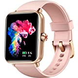 Dirrelo Smart Watch for Android Phones and iPhone Compatible, Smart Watches for Women Men, 5ATM Waterproof Fitness Smartwatch with Heart Rate Monitor & Sleep Tracker & Blood Oxygen Monitor, Pink