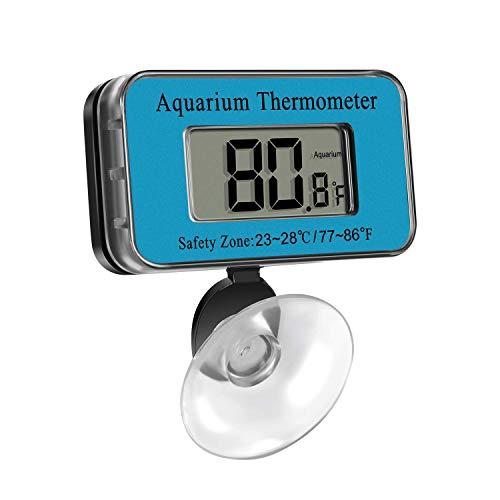Termometro per Acquario, Termometro Digitale Acquario Interno per Acquario/Terrario/Acqua, da 0 °C a 70 °C
