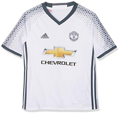 adidas 3 JSY Y Camiseta 3ª Equipación Manchester United 2015/16, Niños, Blanco/Azul, 7-8 años