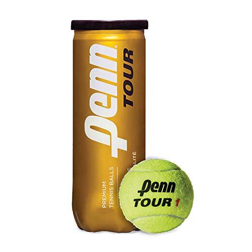 Penn Tour - Extra Duty Felt Hard Court Tennis Ball Cans in Multi-Packs, 3 Balls Per Can (12 Cans = 1/2 Case)