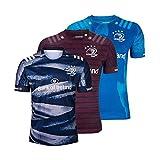 DIWEI 2019-2020 Hommes Maillot De Rugby Leinster À La Maison Et À L'extérieur Coupe du Monde Entraînement Vêtements Football for Femmes Sports Occasionnels T-S Light Blue-L