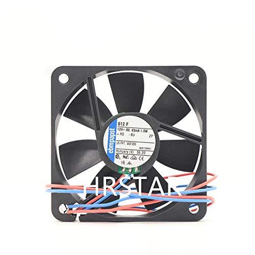 New Original Ebmpapst Fan 612F DC Fan 12V 0.083A 60X60X15mm Axial Fans