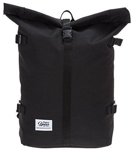 SPEAR Rucksack Courier 287 Fahrradrucksack Rollup Backpack SCHWARZ (287 Black (Schwarz))