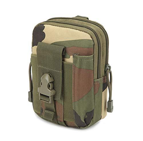 SJZS Mochilas Hombres Tactical Molle Bolsa Cinturón Paquete de Cintura Bolsa Pequeño Bolsillo Paquete de Cintura Militar Paquete Running Bolsa Viaje Viajes Camping Bolsas Suaves (Color : Jungle Camo)