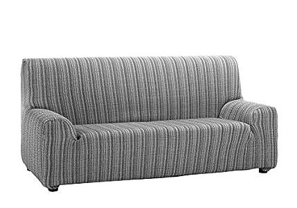 Martina Home Mejico - Funda de sofá elástica, Gris, 3 Plazas, 180 a 240 cm de ancho