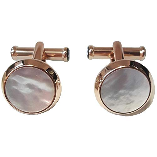Cufflinks Steel Red Gold Colored PVD