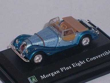 Cararama Morgan Plus Eight 8 Convertible Blau Blue Vitrine Mit Sockel 1/72 Modellauto Modell Auto