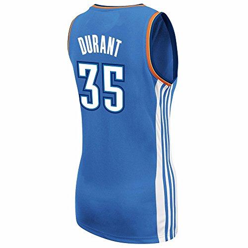 adidas Kevin Durant Oklahoma City Thunder #35 Women's Replica NBA Basketball Jersey (Blue)