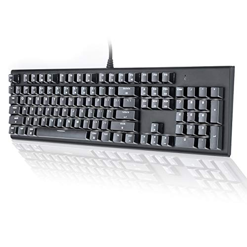 best mechanical keyboards for mac 2021 M104 Mac Layout Mechanical Keyboard, VELOCIFIRE 104-Key Full Size Mechanical Keyboard with Tactile Brown Switch, and LED White Backlit, Compatible with Mac (Black)