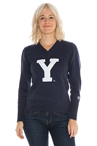 Alma Mater NCAA BYU Cougars Women's V-Neck Sweater, X-Large, Blue
