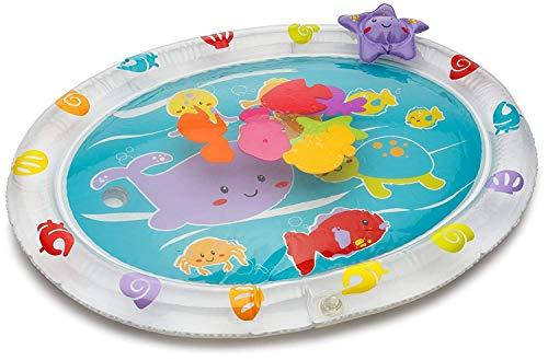 Tappetino gonfiabile Playkidz per il bebè piccola prestoriempire n divertimento da gioco gonfiabile per neonati e bebè, Giocattoli sensoriali per bambini, Blu