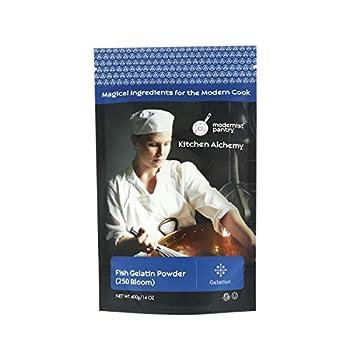 Pure Fish Gelatin Powder  250 Bloom  ❤ Gluten-Free ✡ OU Kosher Certified - 400g/14oz