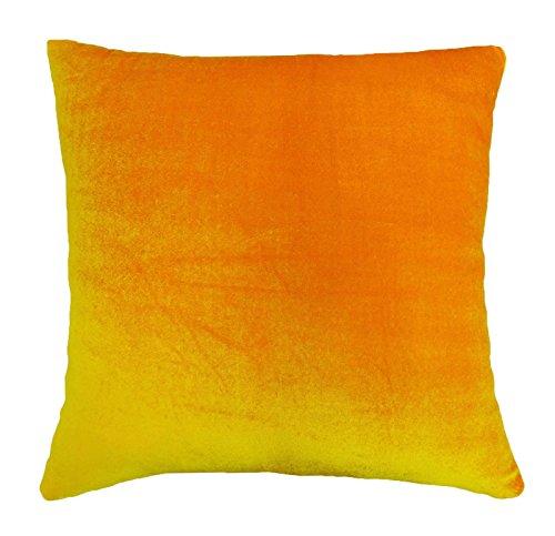 indien taie d'oreiller couverture solide orange décoration intérieure jeter coussin de velours - Choisir la taille