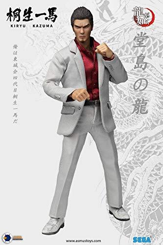 Asmus Toys YAKU01A シリーズ 8インチ 桐生一馬 コスプレ アクション フィギュア ヘッド ボディー 素体 服 道具 セット