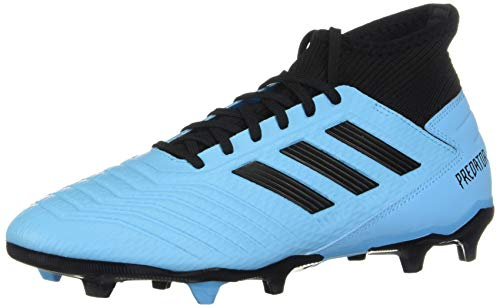 adidas Men's Predator 19.3 Firm Ground Soccer Shoe, Bright Cyan/Black/Solar Yellow, 12 M US