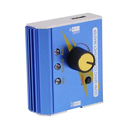 Probador de servo de Motor Profesional, Controlador de Velocidad electrónico, comprobador Maestro para avión RC, Coche, Barco, Servo Probador RC (Azul)