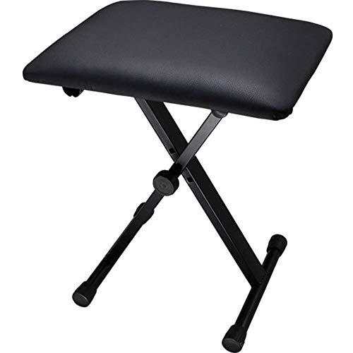 n.g. Tägliche Ausrüstung 4-Fach Verstellbarer Universal-Instrumentenstuhl Klappbare Klavierbank 1-Person für Klavier Guzheng-Keyboard-Gitarre Ideal für Keyboarder Pianisten