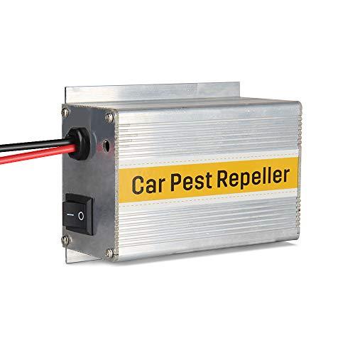 Easy Eagle Ultrasone ongediertebestrijder voor in de auto, met 12 V-accu, elektronische bestrijding tegen knaagdieren, voor afstotende muizen, chipmunks, martenmol