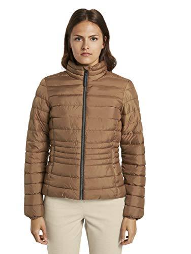 TOM TAILOR Damen Jacken Leichte Steppjacke mit Stehkragen Light Chestnut,XL