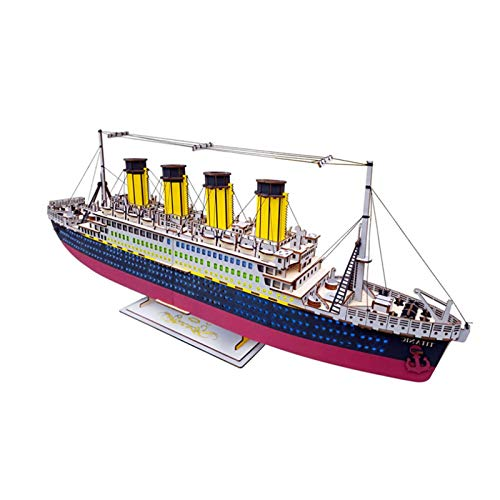 Model Kits Ship 3D Puzzles Titanic Jigsaw Puzzles for Adults and Children, Craft Brain Teaser DIY Model Kits Decoration and Gift for Children 14 Years Old and Up, 371 Pieces
