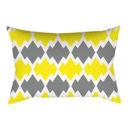 Janly Clearance Sale Pillowcase , Pineapple Leaf Yellow Pillow Case Sofa Car Waist Throw Cushion Cover Home Decor , Home & Garden (L)