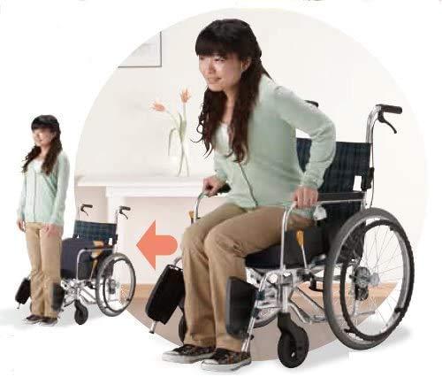 フランスベッド メディカルサービス リハテック シリーズ SAEFTYオレンジ( セーフティ ブレーキ車椅子 ) セーフティオレンジ ノーパンクタイヤ