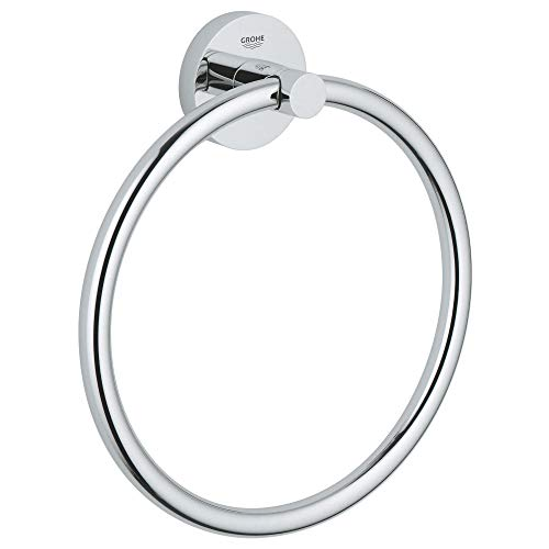 Grohe 40365001 Porta Salviette ad Anello Essentials New, Argento