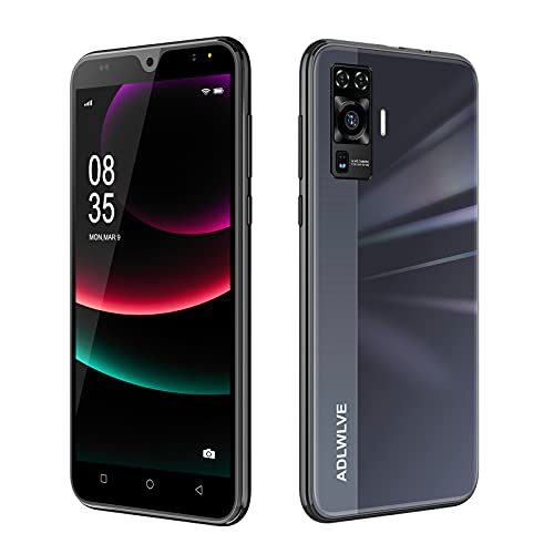 Teléfono Móvil Libres 4G, Android 9.0 Smartphone Libre, 5.5' HD, 2GB + 16GB, Cámara 8MP, Batería 3600mAh, Smartphone Barato Dual SIM, Face ID Moviles Baratos y Buenos (2*SIM+1*SD) (Negro)