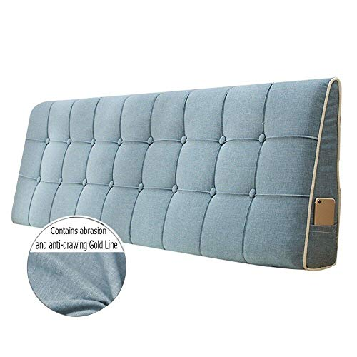 WENZHE Kopfteil Kissen Bett Rückenkissen Rückenlehne Stoff Kissen Softcase Waschbar Einfach zu säubern Atmungsaktiv Nicht deformiert, 7 Farben (Farbe : 2#, größe : 200x50cm)