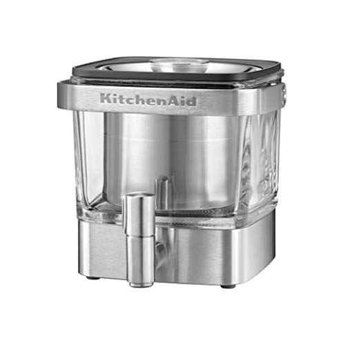 KitchenAid KCM4212SX Cold Brew Coffee Maker-Brushed Stainless Steel, 28 ounce
