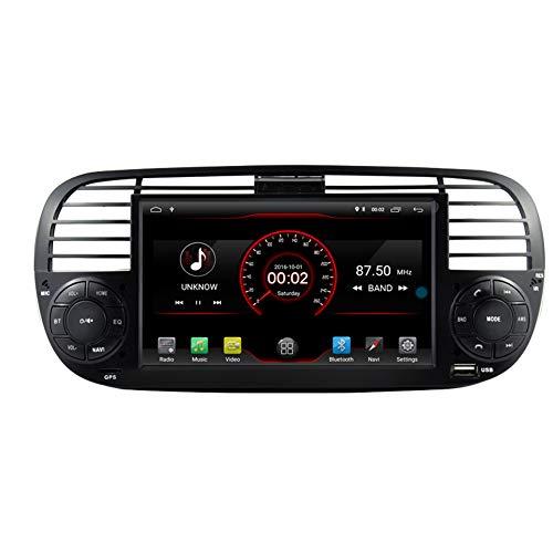 Autosion Android 10 Auto DVD Player GPS Stereo Steuergerät Navigation Radio Multimedia WiFi für FIAT 500 Lenkradsteuerung