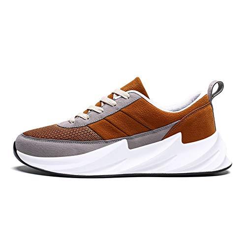 CXQWAN Chaussures de Marche légères pour Homme Antidérapant Résistant à l'usure Convient pour la Marche, la Gym, Le Jogging, Le Fitness athlétique, Marron, 43