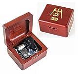 YouTang caja de música de madera tallada caja musical mecanismo de cuerda regalo...