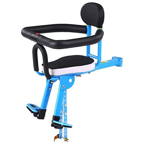 Kimcc Klappbarer Kindersitz Für Mountainbikes,Fahrrad Baby Sicherheitssitz Mit Griff Und Pedal,Schnellmontage Metall Fahrrad Kindersitz,Für Fahrrad Fahrrad Elektrofahrrad,1-4 Jahre