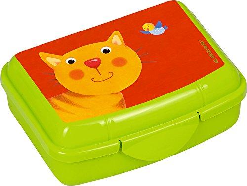 Spiegelburg Mélamine vaisselle pour enfant Assiettes/gobelets Freche Hochet bande (Snack Box chat)