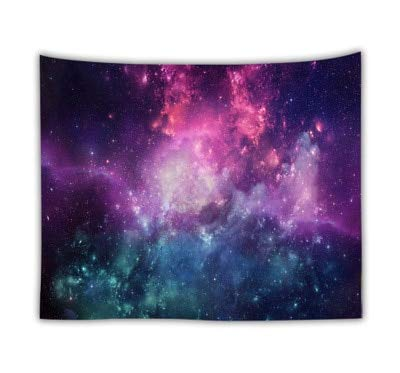 KHKJ Romantische Galaxie Hippie Wandteppich Wandbehang Mandala Sternenhimmel...