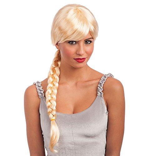 Carnival Toys 1403 - pruik met vlecht blond