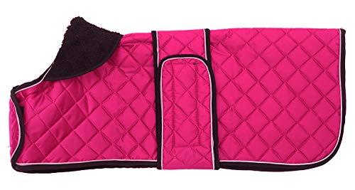 Morezi - Cappotti bassotto, cappotto per bassotti, cappotto invernale per cani con fodera imbottita in pile, per esterni, con fasce regolabili, colore: Rosa - L