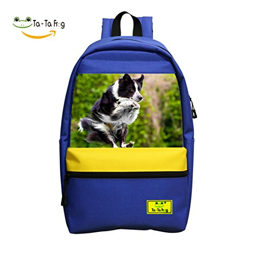 Border Collie Jumping Laptop Backpack Casual School Business Travel Daypack Student Bag