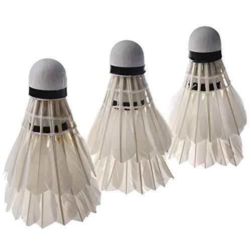 Suading 6PCS volani di Piuma Bianca per Badminton