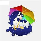 13CM * 14CM Pony mit einem Regenbogen Autoaufkleber thumbnail