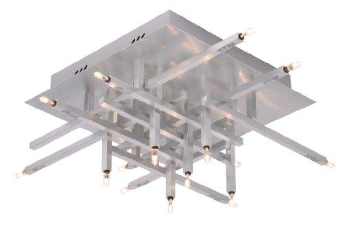 Lucide 26105/16/12 Stax Plafonnier Chrome Mat Aluminium