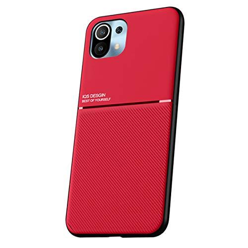 """SHUNDA Caso para Xiaomi Mi 11, Ultra fino suave Gel de sílica TPU Prova de Choque Caso para Xiaomi Mi 11 6.81"""" - vermelho"""